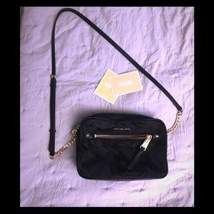 Michael Kors Crossbody Black Camo Bag